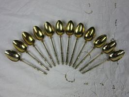 12 petites cuillères à la russe Gavard