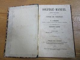 Solfège-manuel, composé spécialement pour les cours de solfège par A. Limagne