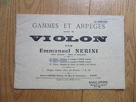 Gammes et arpèges violon, Nerini