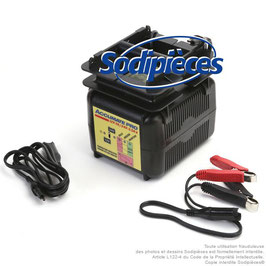 Chargeur batteries 12/24V, AGM, GEL et conventionnelles - Courant de charge : 7A / 3,5A