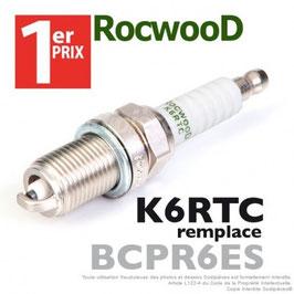 Bougie type BCPR6ES. 1er Prix Rocwood. K6RTC