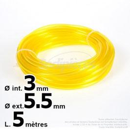 Durite essence nylon 3 x 5,5 mm. 5 mètres
