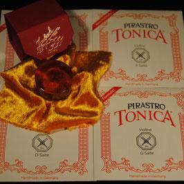 Комплект струн для скрипки  PIRASTRO TONICA + Канифоль Laubach  для скрипки и альта купить .