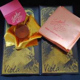 Pirastro - Evah Pirazzi Gold Violastrings SET + Laubach Rosin + Laubach Cleaning and Polishing Cloth