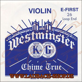 Первая струна для скрипки Ми  WESTMINSTER