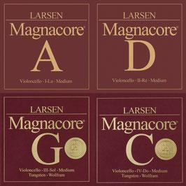 Струны Ларсен для виолончели купить Magnacore Arioso Wolfram soft (C, G) и Magnacore (A,  D) - натяжение среднее Medium
