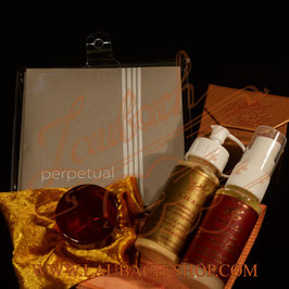 Perpetual Violin  strings SET +  Laubach Gold Rosin for Violin +Laubach Cleaning and Polishing Cloth + Laubach Varnish Cleaner & Polish Spray + Deep cleaner