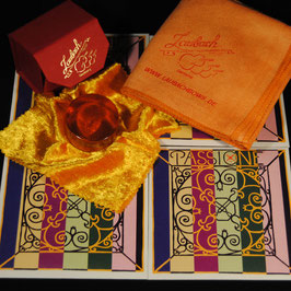 Pirastro - Passione Violinstrings SET + Laubach Rosin for Violin + Laubach Cleaning and Polishing Cloth