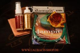 Дэмпит увлажнитель + золотая канифоль + LAUBACH полироль + ЛАУБАХ средство для сильно загрязненных лакированных поверхностей + уходовый платочек