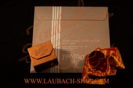 Pirastro -Perpetual oder Cadenza Violinsaiten SATZ + Laubach Gold Kolophonium für Violine + Laubach Pflege- Poliertuch + Laubach Lackreiniger & Politur Spray