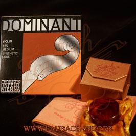 Dominant Thomastik - струны для скрипки + Gold канифоль Laubach + уходовая полиуретановая безворсовая салфетка купить в наборе