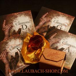 IL Cannone Larsen-струны для скрипки + золотая канифоль Laubach купить в наборе