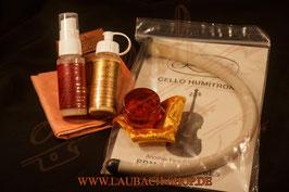 Хумитрон увлажнитель + ЛАУБАХ средство для сильно загрязненных лакированных поверхностей + золотая канифоль + LAUBACH полироль + уходовая салфетка