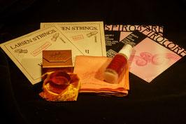 LARSEN A+D и SPIROCORE Thomastik C+G для виолончели + купить ЭКОНОМ-Набор: золотая канифоль Laubach Gold + очищающий платочек + спрей средство для чистки и полировки
