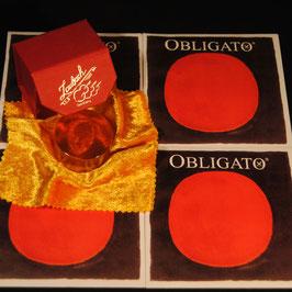 Комплект струн для скрипки PIRASTRO OBLIGATO + Канифоль Laubach для скрипки и альта купить