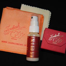 Laubach professional varnish cleaner and polish spray & Laubach polishing cloth & Laubach rosin violin/viola Set