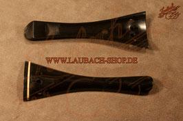 Подгрифник - струнодержатель для скрипки французской модели French,  черное эбеновое дерево с порожком из самшита купить
