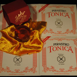 Pirastro - Tonica EU Violinstrings SET + Laubach Rosin for Violin