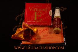 Virtuoso для скрипки Larsen  + Laubach Gold канифоль + полиуретановый платочек + очиститель Laubach