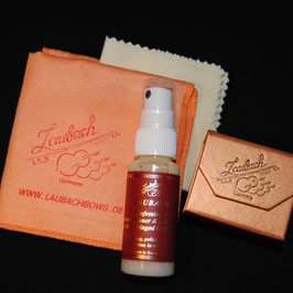 Laubach professional varnish cleaner and polish spray & Laubach polishing cloth & Laubach Gold rosin Cello Set