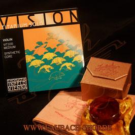 Vision Titanium Solo VIT 100 Thomastik - струны для скрипки, сольный вариант канифоль GOLD Laubach  + платочек для лаковой поверхности купить