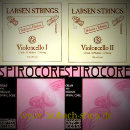 G + C Thomastik Spirocore  and Lasren A + D Soloist  strings SET to buy