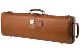 Футляры для скрипки GL Quarter Circle Violin Case коричневая кожа натуральная