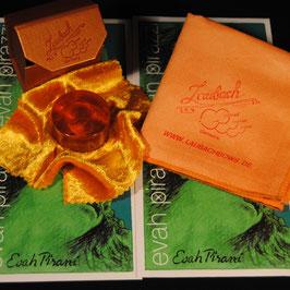 EVAH PIRAZZI комплект детских скрипичных струн купить + Канифоль Laubach с золотом  для скрипки  +  платочек для ухода за скрипкой