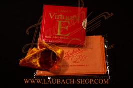Larsen Virtuoso струны для скрипки + Gold канифоль Laubach + уходовая полиуретановая безворсовая салфетка купить в наборе  по акции