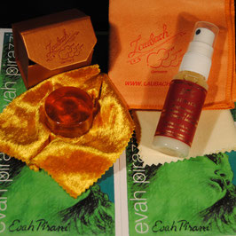 Pirastro - Evah Pirazzi Violastrings SET + Laubach Gold Rosin + Laubach Cleaning and Polishing Cloth + Laubach Varnish Cleaner & Polish Spray