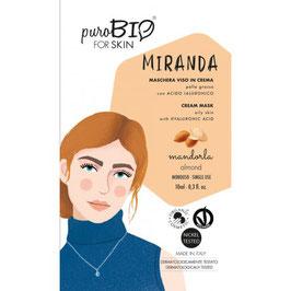 "MASCHERA IN CREMA PELLE GRASSA ""MIRANDA 05 MANDORLA - PUROBIO"