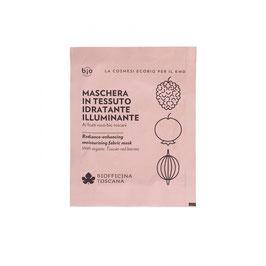 Maschera in tessuto idratante-illuminante Biofficina Toscana