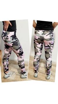 Leggins Camouflage rosa/grau