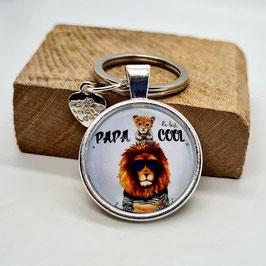 Schlüsselanhänger Papa Cool Löwe