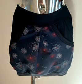 Taschenrock blau mit Pusteblumen Pusteblume Gr. XS