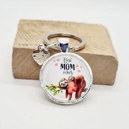 Schlüsselanhänger Beste Mom Faultier