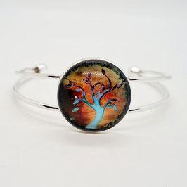 Armreif orange/blau Baum