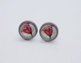 Ohrringe watercolor Redflower