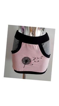 Ballonrock rosa mit bestickter Pusteblume (Gr. XS)