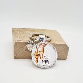 Schlüsselanhänger beste Mom forever Giraffe