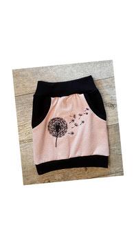 Taschenrock rosa Kuller bestickter Pusteblume (50/56 - 134/140)
