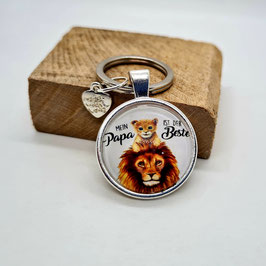 Schlüsselanhänger bester Papa Löwe