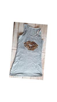 Trägerhemd Leopardenmustermund  (Gr. M)