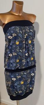 Overall dunkelblau mit Blumenmuster und einen touch gelb  (Gr. M)