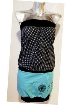 Overall schwarz/blau dots Pusteblume bestickt (Gr. XS - XL)