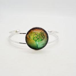 Armreif grün Baum