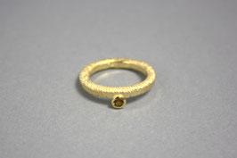 Ring Spindel goldplattiert Citrin Gr.56