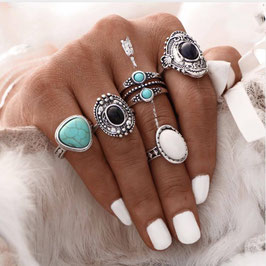 Ring Set Boho Antique