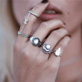 Ring Set Luna Blanca