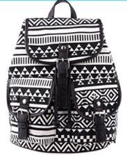 Rucksack mit Muster und Taschen